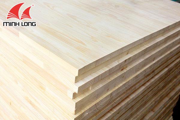 Gỗ thông ghép chia theo độ dày mặt gỗ