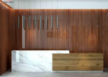 Vân gỗ óc chó trong các thiết kế nội thất