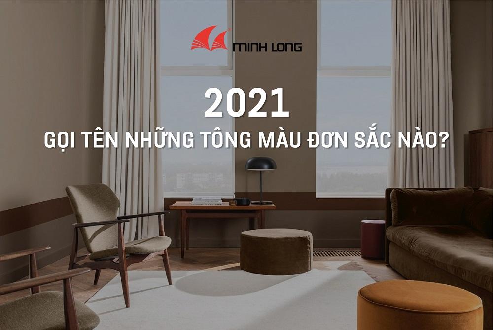 Màu đơn sắc 2021